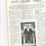 Article on Tarot Reading by Neera Sareen in magazine Mystic India