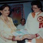 Super Achiever Award 2008 in Occult & Alternate Therapies presented by Delhi Mayor Mrs Aarti Mehra