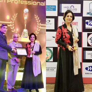 Neera Sareen - Tarot Reader, Alternate HealingThearpist getting Indian Health Professional Award 2017 for Mental and Emotional Health