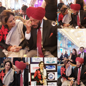 Neera Sareen renowned Tarot Reader, Alternate Healing therapist with Padma Shri Awardee Shri Milkha Singh (Chief Guest) during Indian Health Professional Awards 2017