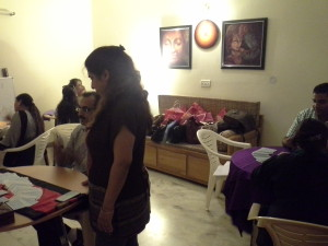 Tarot Card Reading being practiced by students of Neera Sareen during Tarot Reading Class
