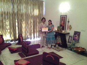 Certificate to student after successful completion of Tarot Card Reading Course
