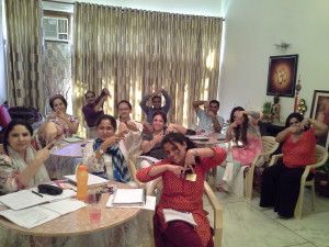 Angel Therapy Class in Progress at Karmic Centre conducted by Neera Sareen
