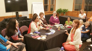 Neera-Sareen-conducting-tarot-reading-as-a-penalist-in-world-tarot-summit-in-new-york-2016
