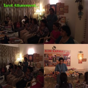 Tarot-attunements-in- beginning of Tarot-Reading-course-by-Neera-Sareen-the-master-tarot-reader-at-new-delhi