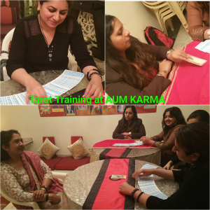 Tarot Reading Practice being done by Neera Sareen's Students during Tarot Reading Course at her Holistic Centre in  Delhi
