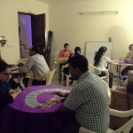 Students are being given extensive practical training on Tarot Card Reading at Karmic Centre by Neera Sareen
