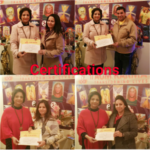Certifications to Students at Aum Karma - The Holistic Centre by Neera Sareen