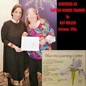 Neera Sareen certified as Switchwords Trainer by Kat Miller at Arizona (U.S.A.) -The first Indian to have achieved this.