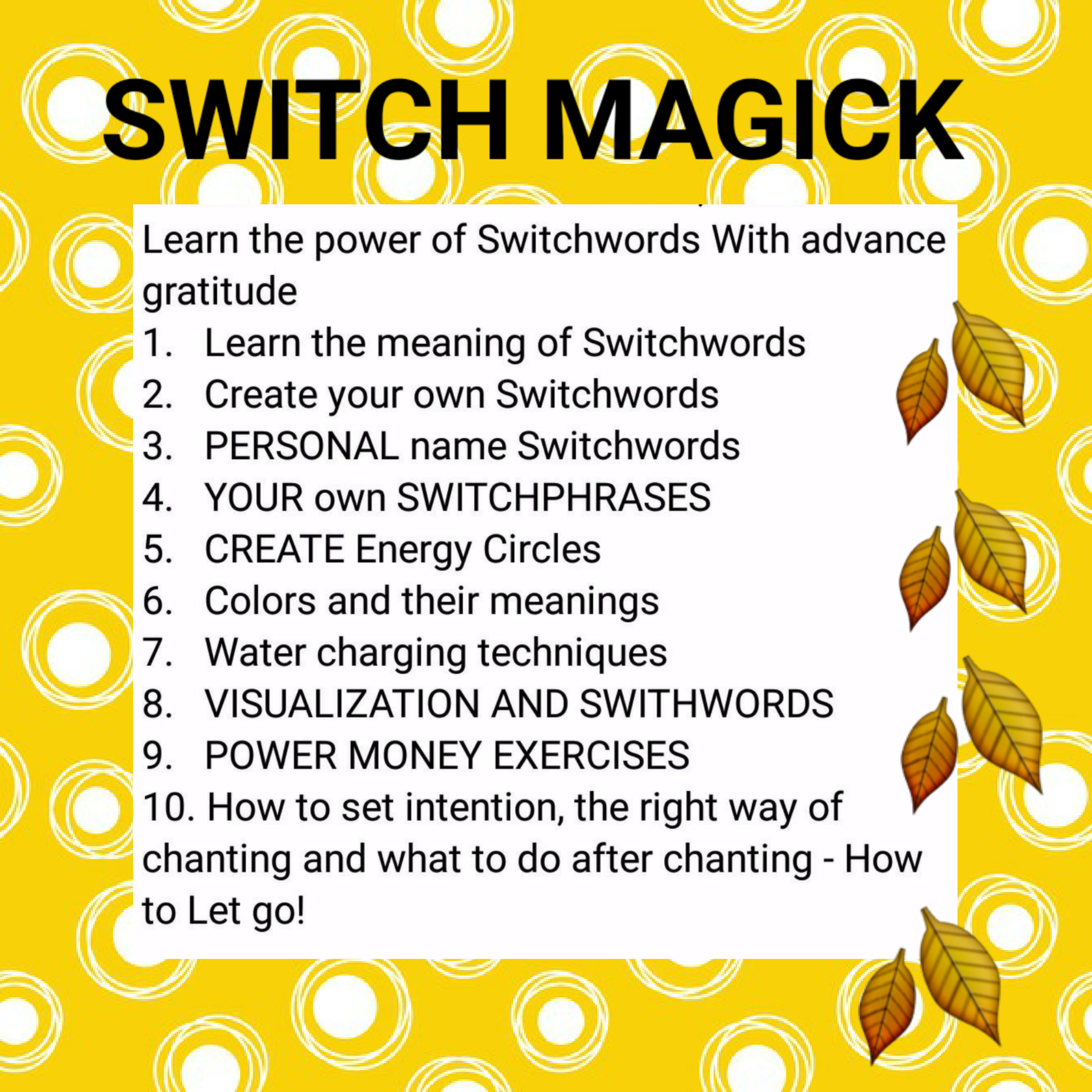 How to Use Switchwords and Energy Circles to Get Rid of Pests How to Use Switchwords and Energy Circles to Get Rid of Pests new photo